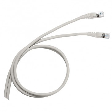 Patch cord/user cord RJ 45 - Cat.5 - U/UTP unscreened - PVC - 1 m