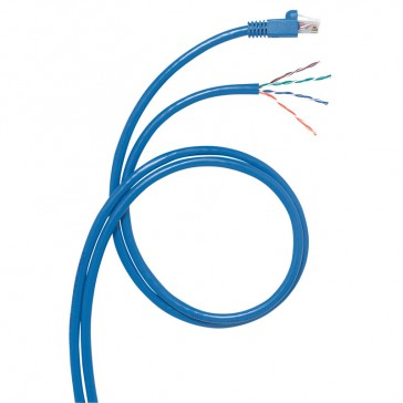 Cord for area distribution box - Cat.6 - RJ 45/stripped - F/UTP screened - 15 m