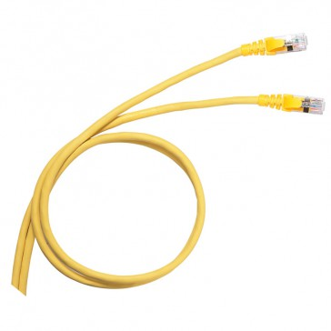 Patch cord category 6 A - S/FTP shielded - PVC - length 3 m - yellow