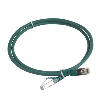 Patch cord category 6 A - S/FTP shielded - LSZH - length 1 m - green