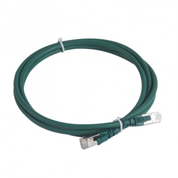 Patch cord category 6 A - S/FTP shielded - LSZH - length 2 m - green