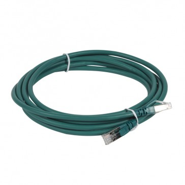 Patch cord category 6 A - S/FTP shielded - LSZH - length 3 m - green