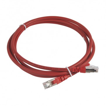 Patch cord category 6 A - S/FTP shielded - LSZH - length 2 m - red