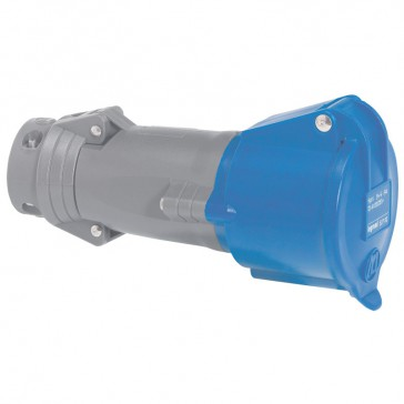 Mobile socket Hypra - IP44 - 200/250 V~ - 32 A - 2P+E - plastic