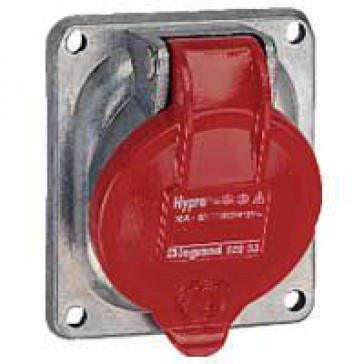 Panel mounting socket inclined outlet Hypra -IP44 -380/415 V~ -63 A -3P+N+E -metal