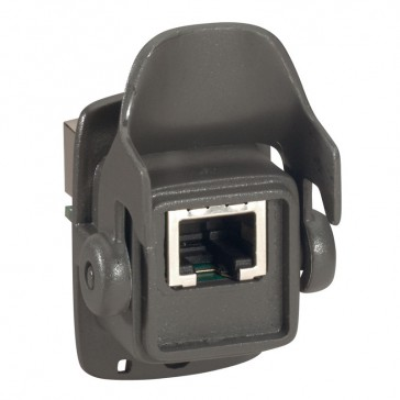 Kit for cable protection - flush-mounting base + plug