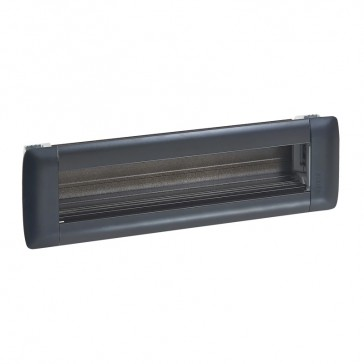 Empty flush-mounting office modules - aluminium body - 8 modules - black