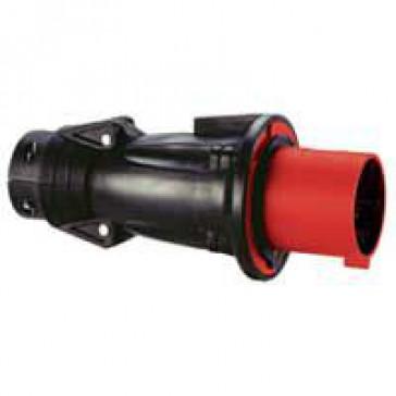 Straight plug Hypra - IP44 - 380/415 V~ - 63 A - 3P+E - rubber