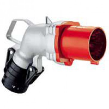 Angled plug Hypra - IP44 - 380/415 V~ - 63 A - 3P+N+E - metal