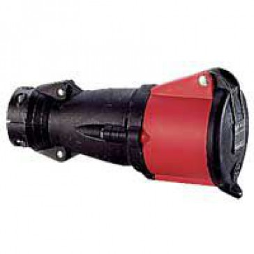 Mobile socket Hypra - IP44 - 380/415 V~ - 63 A - 3P+E - rubber