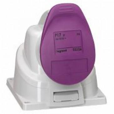 Surface mounting socket P17 - IP44 - 20/25 V~ - 32 A - 2P