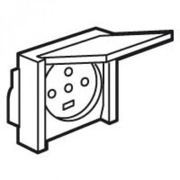 Socket outlet Plexo - IP44 - 20 A - 3P+N+E - flush mounting - grey