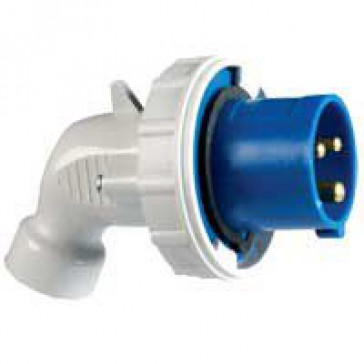 P 17 Tempra Pro IP 66/67 2P+E angled plug LV 32 A with male connector - 200 to 250 V~ - 50/60 Hz