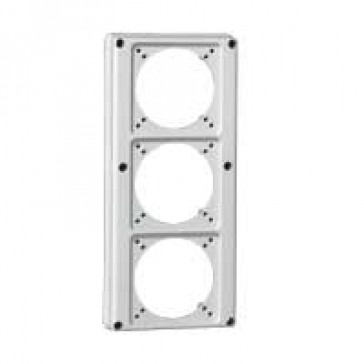 Faceplate for combined unit P17 - 3 sockets 16 A