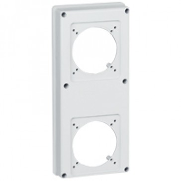 Faceplate for combined unit P17 - 2 sockets 16 or 32 A