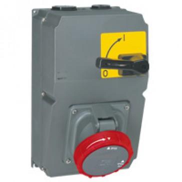 Socket with break isolating switch Hypra- IP66/67-55 - 380/415 V~ - 125 A - 3P+E