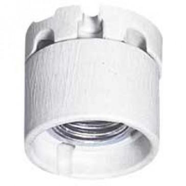 E 27 lampholder - 4 A 250 V~ - porcelain - protective skirt - white