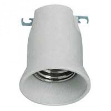 E 40 lampholder - 16 A - 750 V~ - porcelain - one-piece unit - white