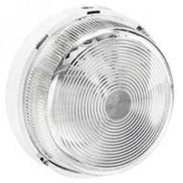 Bulkhead light - IP44 - IK07 - round - B 22 - glass diffuser