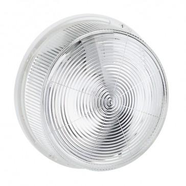 Bulkhead light - IP44 - IK07 - round - E 27 - glass diffuser