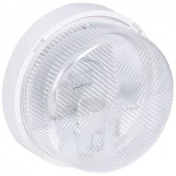 Bulkhead light - IP44 - IK07 - round - E27 - polycarbonate diffuser