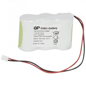 Nickel Cadmium battery - for emergency lighting luminaires - 2 x 3.6 V - 2.2 Ah