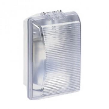 Bulkhead light Plexo - IP54 - IK08 - rectangular - 75 Wincandescent - clear