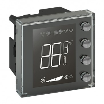 KNX temperature controller - flush-mounting - 2 modules