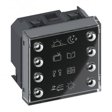 8 push-buttons control BUS/SCS Arteor - 2 modules