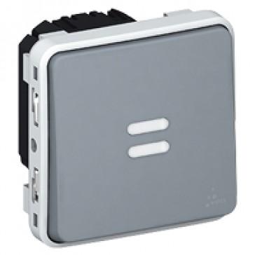 Time lag switch Plexo IP55 - illuminated electronic 250 V~ - modular - grey