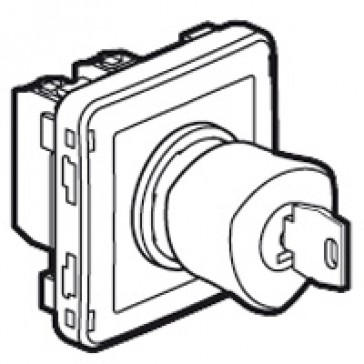 Emergency stop button Plexo IP55-with key-N/C+N/O contact- modular-grey/yellow