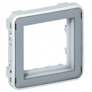Support frame Plexo 55 - for Mosaic 2 modules - IP20 - without flap