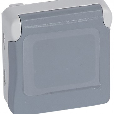 Socket outlet Plexo IP55 - BS - 13 A - 2P+E screw terminals- modular - grey