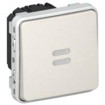 Time lag switch Plexo IP55 - illuminated electronic 250 V~ - modular - white