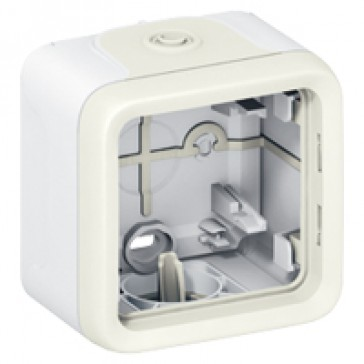 Surface mounting box Plexo IP55 - 1 gang - with membrane glands - white