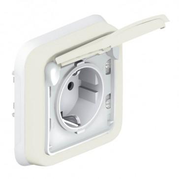 Socket outlet Plexo IP55 - German standard - 2P+E - flush mounting - white