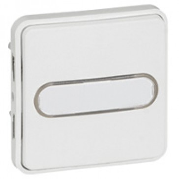 Push-button Plexo IP55 antibacterial-illum/label-holder-10 A-modular-Artic white