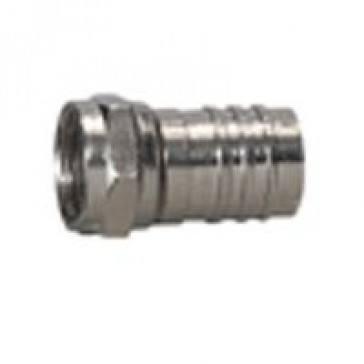 F connector for Ø7 mm coaxial cable - compression connector