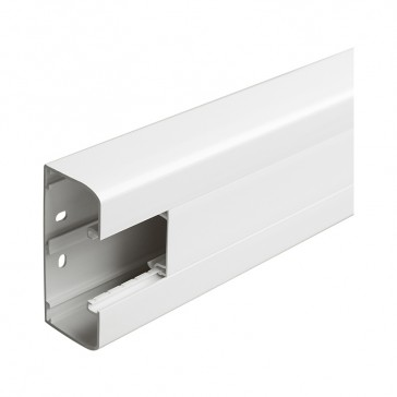 Flexible cover snap-on DLP trunking - 1 compartment - 50 x 105 - with cover 45 mm - 2 m - white