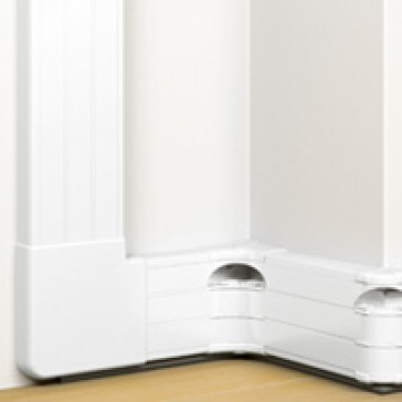 Snap-on trunking - 3 compartment - 50 x 180 - with cover 45 mm - 2 m - white