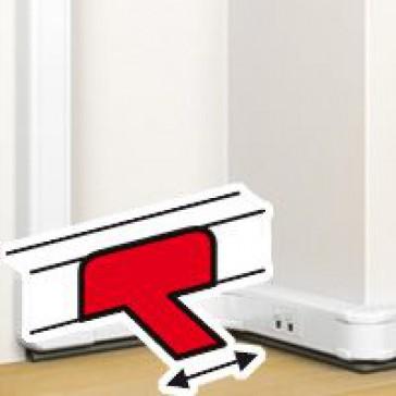 Floor duct junction - for flexible cover snap-on DLP trunking - white