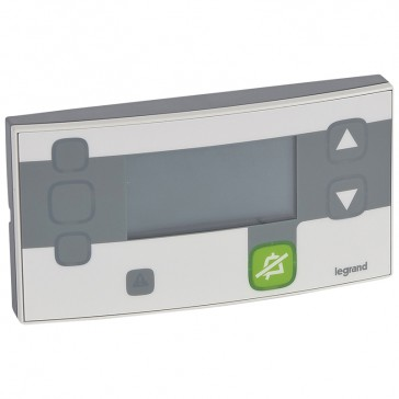 Secondary control unit Mosaic - for room or corridor - 4 modules - Antimicrobial