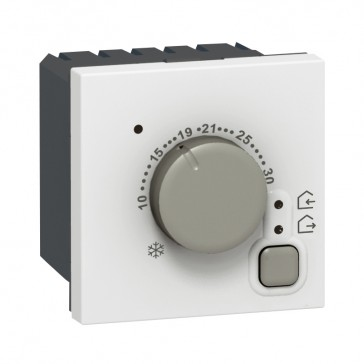Electronic room thermostat Mosaic - 2 modules - white