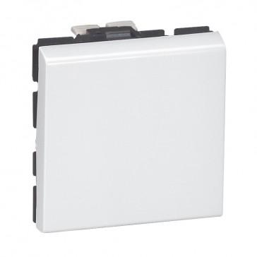 2-way push-button Mosaic - 6 A 250 V~ - 2 modules - white