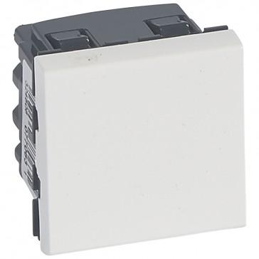 2-way switch Mosaic 20 AX 250 V~ - 2 modules - 2 pole - white