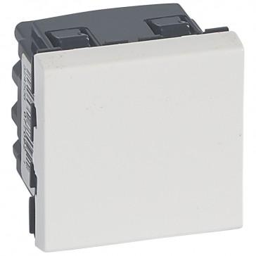 2-way switch Mosaic 20 AX 250 V~ - 2 modules - white