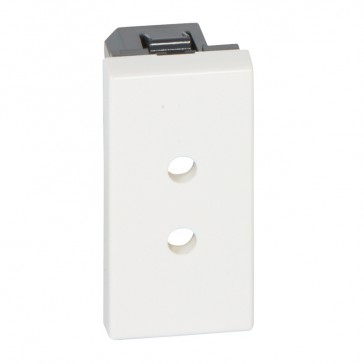 Socket outlet Mosaic - German standard - 2P ELV screw terminal - 1 module antimicrobial