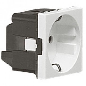 Multi-support single socket Mosaic - German standard - 2P+E without shutters - 2 modules