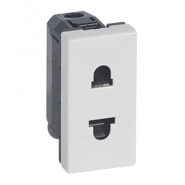 Socket outlet Mosaic - Euro-US - 2P - 1 module - white