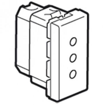 Socket outlet Mosaic - italian - 2P+E 10 A on line - 1 module - white